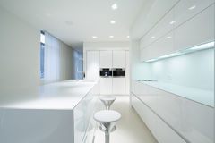 White kitchen interior Royalty Free Stock Images