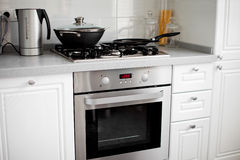 White kitchen interior Royalty Free Stock Image