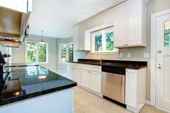 White kitchen interior Royalty Free Stock Images