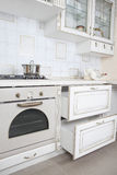 White kitchen modern interior Stock Image