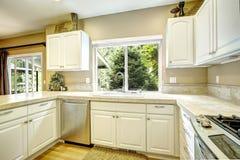 White kitchen room interior Stock Photography