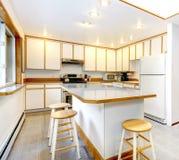 White kitchen room Stock Image