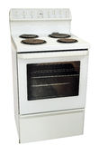 White Kitchen Stove Royalty Free Stock Photography