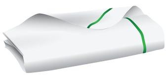 White kitchen towel Royalty Free Stock Image