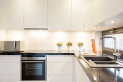 White kitchen unit Royalty Free Stock Image