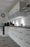 White kitchen in vertical view Stock Image