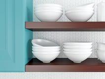 White kitchenware. Stock Photos