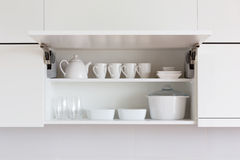 White kitchenware Royalty Free Stock Images