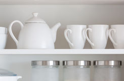 White kitchenware Royalty Free Stock Photos
