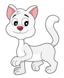 White kitten cartoon Royalty Free Stock Photo