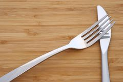 White knife and fork Stock Photos