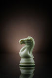 White Knight. Picture of a white knight from game of chess Royalty Free Stock Photo