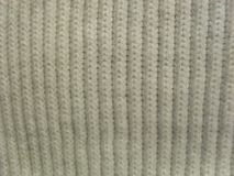 White knit closeup Royalty Free Stock Photography