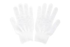 White knit gloves isolated on white background Stock Image