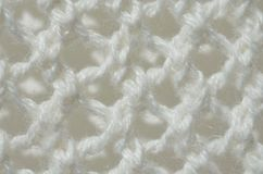 White knit material - up close abstract background Stock Image