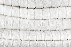 White knitted background royalty free stock photo