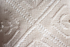 White knitted background. knitted fabric Royalty Free Stock Photo
