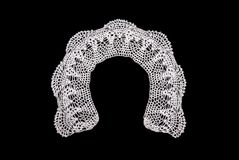 White knitted collar for a dress Royalty Free Stock Photography