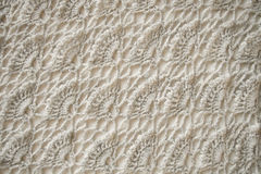 White knitted fabric Stock Photography
