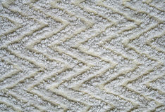 White knitted fabric as background Royalty Free Stock Image
