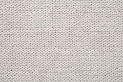 White knitted fabric texture Royalty Free Stock Photos