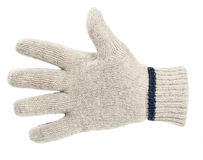 White knitted glove Royalty Free Stock Image