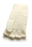 White knitted glove Stock Photos