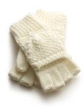 White knitted gloves Royalty Free Stock Image