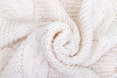 White knitted scarf Royalty Free Stock Image