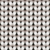White knitted seamless pattern Stock Image