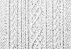 White knitted sweater background Stock Photo