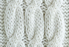 White knitted texture background Stock Photo