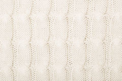 White knitted texture with ornament Stock Image