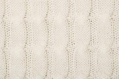White knitted texture with ornament Stock Photo