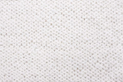 White  knitted texture. Royalty Free Stock Image