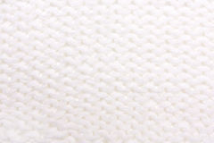 White  knitted texture. Stock Photography