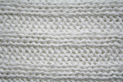 White knitted textured background Stock Images