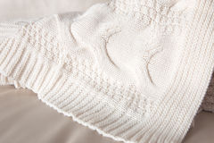 White knitted throw Royalty Free Stock Photography