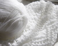 White knitting Royalty Free Stock Photography