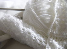 White knitting Stock Image