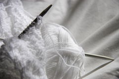 White knitting Royalty Free Stock Images