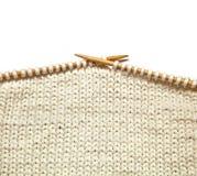 White knitting on white background Stock Photography