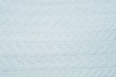 White knitting wool material texture for background. Stock Photos