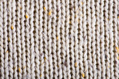White knitting wool texture background. Stock Photos
