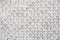 White knitting wool texture Stock Image