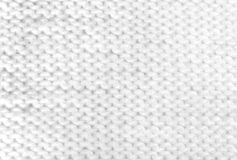 White Knitting Woolen Texture. Isolated On White Background Royalty Free Stock Photography