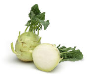 White kohlrabi Royalty Free Stock Images