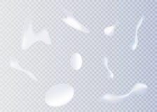 white kremowy Kosmetyczny biały produkt, mousse, gel, batożył śmietankę Zdjęcia Royalty Free