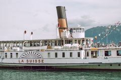 White La Suisse Ferry Boat at Daytime Stock Photo