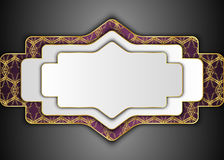 White label and Dark vintage background. Blank for message. White label and Dark vintage . Blank for message or text.Certificate Stock Image
